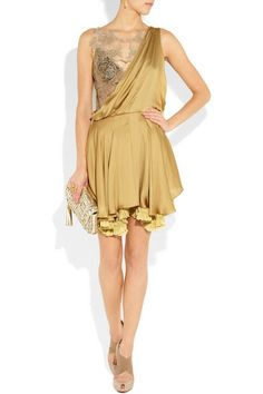 Gold lace and drape