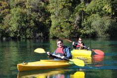 Kayaking on the beautiful Waikato River, near Taupo NZ