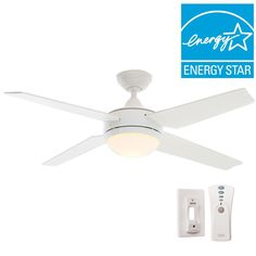 Hunter Sonic 52 in. Indoor White Ceiling Fan with Universal Remote - 59073 - The Home Depot