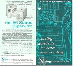 1962 ad for the Viking 86 reel to reel tape recorder in the Phantom Productions vintage recording collection