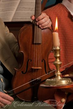 Chamber Music at the Governor's Palace Ballroom by candlelight. Colonial Williamsburg's Historic Area. Williamsburg, Virginia. Photo by Davi...