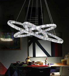 CWI Lighting Ring 32 inch LED Chandelier with Chrome Finish Sputnik Chandelier, Chandelier Shades, Chandelier Lighting, Chandelier Ideas, Round Chandelier, Interior Modern, Spa Interior, Wagon Wheel Chandelier, Home Interiors