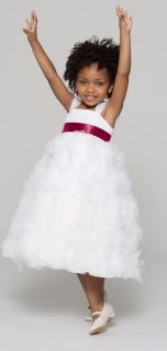 Seahorse Willa Flower Girl Dress in Wine