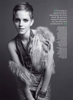 Emma Watson for Marie Claire US December 2010 by Tesh by Jimee