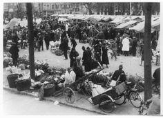 Nijmegen - De markt op het Kelfkensbos in 1935