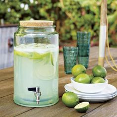 Recycled Glass Drink Dispenser: Remodelista