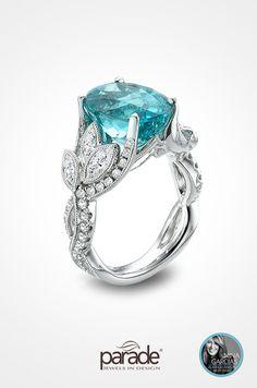 Parade Design Tourmaline and Diamond Ring
