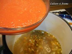Supa de rosii cu galuste de malai – Culoare si Arome Palak Paneer, Pudding, Ethnic Recipes, Desserts, Food, Mariana, Diet, Fine Dining, Essen