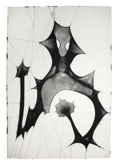 Shazam (Black and Phosphorescence) , 2009  by E.V. Day  Mixed Media