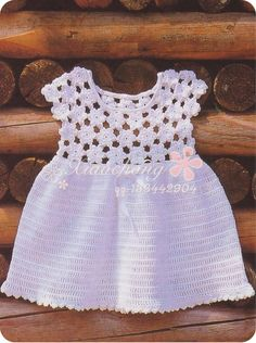 Floral sundress for baby girls to crochet. Diagrams ONLY!  More Patterns Like This!