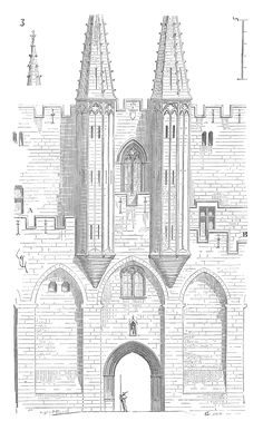 Architectural Drawings Gothic Arquitetura Goth Architecture Drawing