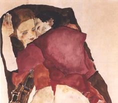 Two Girls (Lovers), 1911, Egon Schiele