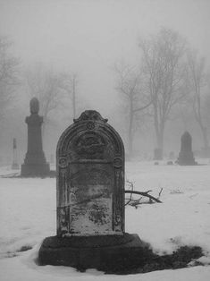 cemetery, black and white, and dark image