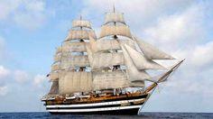Old Sailing Ships, Ship Of The Line, Sail Away, Tall Ships, Model Ships, Beautiful World, Nautical, Boats, Toscana