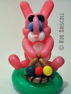 Balloon Easter bunny. #Balloon sculpture Easter bunny #balloon-sculpture-Easter-bunny #balloon art Easter bunny #balloon-art-Easter-bunny #balloon twist Easter bunny #balloon-twist-Easter -bunny #balloon character Easter bunny #balloon-character-Easter-bunny