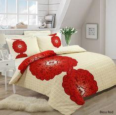 Bless Red Bedding Set