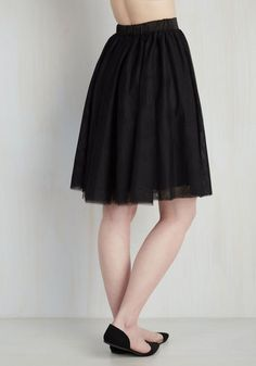 Tulle of the Trade Skirt in Noir | Mod Retro Vintage Skirts | ModCloth.com