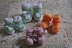 Tuto chaussons bébé au tricot - Au Coeur de Marie