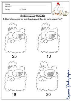 Resultado de imagem para atividade da galinha choca para imprimir