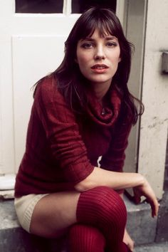 1971, Jane Birkin's cosy yet sultry mix of roll neck jumper, shorts and knee-high socks looks as fresh and relevant today as it did then…photo Gunnar Larsen.