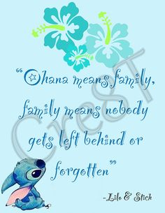 """Disney Lilo and Stich Movie Quote Print by Cre8T on Etsy, $3.00 Hey guys! Check out my Etsy Store, """"Cre8T"""", for more Prints Photography. -Tia"""