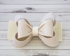 Ivory Bow Hair Clip Bow Hair Clip Toddler Hair by BySophiaBaby