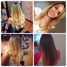 Before and After #blondetobrunette #haircolor #valeriesalon