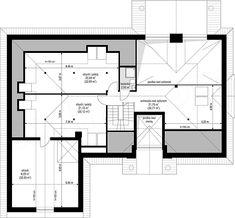 Projekt domu Willa Parkowa 4 165,77 m2 - koszt budowy - EXTRADOM Cute House, Design Case, Construction, Traditional House, House Plans, Floor Plans, Exterior, House Design, How To Plan