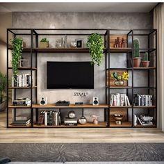 Wow para habitación principal Home Room Design, Home Office Design, Home Interior Design, Living Room Designs, House Design, Home Decor Furniture, Furniture Design, Muebles Living, Living Room Tv