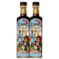 Camp Coffee...my Gran used to buy it, and it would last for ages because it was strong, and coffee wasn't that popular then, well chicory more than coffee, horrid stuff!!