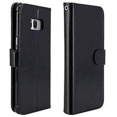 Samsung Galaxy Plus Luxury Leather Wallet Case With Card Holder Deep Black Galaxy S8, Samsung Galaxy, S8 Plus, Pu Leather, Leather Wallet, Card Wallet, Card Holder, Luxury, Phone