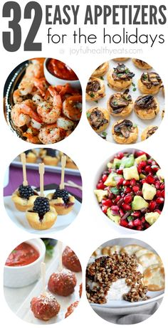 32 Easy Party Appetizers for the Holidays | www.joyfulhealthyeats.com | #newyearseve #partyfood #appetizers #starters #easyrecipes