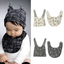 Cute Kids Baby Cotton Saliva Lunch Bib Cotton Scarf and Cat Pattern Hat Cap Set Hot Baby Turban, Baby Boy Outfits, Kids Outfits, Cute Babies, Baby Kids, Fall Baby Clothes, Cat Pattern, Kids Hats, Baby Sewing