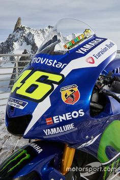 The 2016 Yamaha YZR-M1 of Valentino Rossi, Yamaha Factory Racing