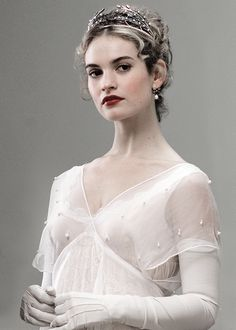 lilyjamessource:  Lily James as Natasha Rostova in BBC's War and Peace.