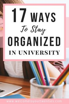 17 organizational strategies for college and university students. Decrease the stress you& feeling and increase the amount of time you& able to spend doing the things that you enjoy by applying what you learn in this article. University Organization, College Organization, Organization Hacks, College Courses, Education College, Education Degree, Education Requirements, Science Education, Elementary Education