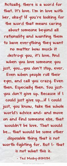 when you love someone you just.. you dont stop. ever. even when people roll their eyes - Google Search