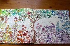 Mijn eigen kleurplaat uit Mijn geheime tuin.