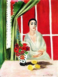 """""""Figure at the Rideau Releve"""" - Henri Matisse."""