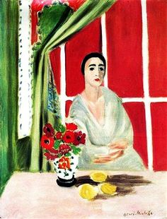 """Figure at the Rideau Releve"" - Henri Matisse."