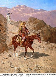 Circassian horsemen – Cirkasser – All hail the old Circassians