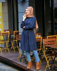 Stunning Button Front Tunic Outfit Ideas for Hijabies – Girls Hijab Style & Hijab Fashion Ideas Islamic Fashion, Muslim Fashion, Modest Fashion, Hijab Fashion, Fashion Outfits, Fashion Ideas, Hijabi Girl, Girl Hijab, Hijab Casual