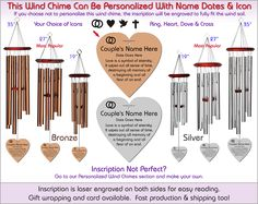 Symbol of Eternity - Wedding Wind Chimes, The Perfect Wedding Gift!
