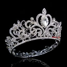5-5cm-High-Full-Crystal-Luxury-Wedding-Bridal-Party-Pageant-Prom-Tiara-Crown