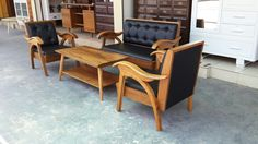 Coffee Table Safas Set made from Teak Wood