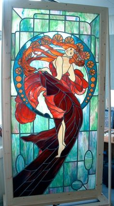Alfonse Mucha tribute by Simply Stained Glass UK