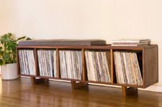 http://petedeeblefurniture.com/vinyl-lp-storage-bench