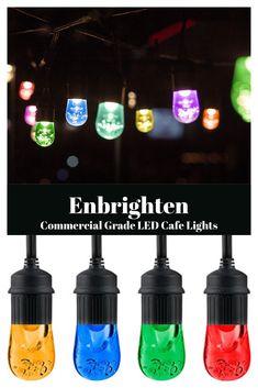 Enbrighten Commercial Grade LED Cafe Lights Vintage Cafe, Product Offering, Season Colors, String Lights, Outdoor Lighting, Diy Tutorial, Light Colors, Commercial, Led
