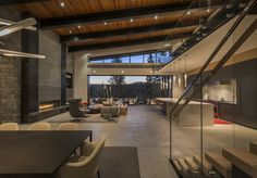 This very unique project is located across an expansive drainage from the renowned Golf Club in Martis Camp. Between design and construction, the endeavor nearly spanned 4 years. Ultra Modern Homes, Luxury Modern Homes, Mansion Interior, Home Interior Design, Loft Design, Modern House Design, Modern Mountain Home, House Rooms, Architecture Design