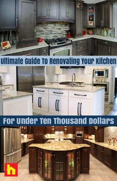 FREE Ultimate Guide To Renovating Your Kitchen For Under $10,000 eBook! Limited budget? Create your perfect kitchen.  http://info.surplus-warehouse.com/renovate-kitchen-with-only-10000-guide?utm_campaign=SW%20Pinterest&utm_medium=social&utm_source=pinterest